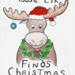 Moose Elk Finds Christmas